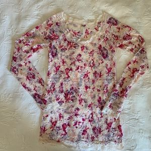 NWOT Free People Lace Top -L